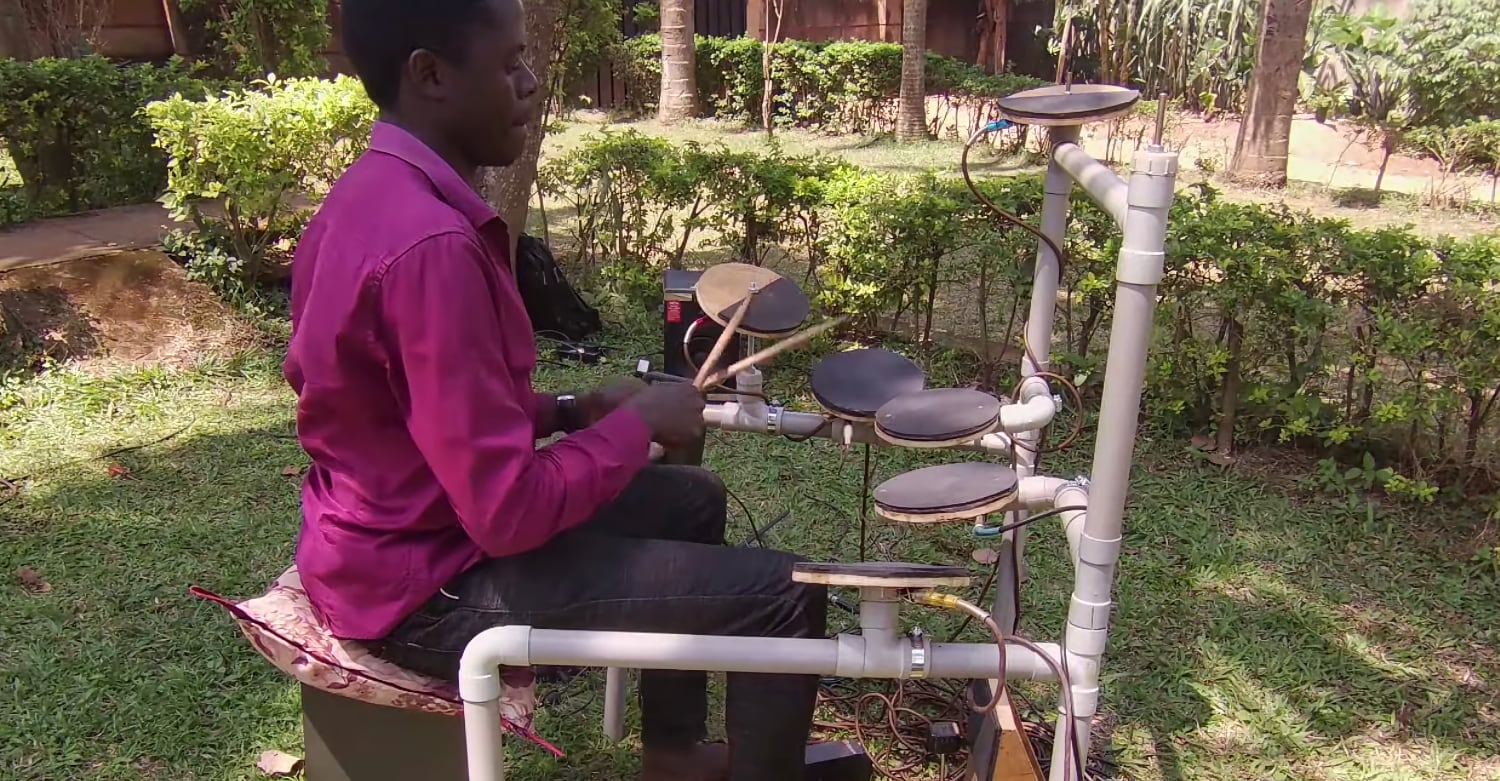 How To Make A DIY Velocity-Sensitive Electronic Drum Kit For About $50