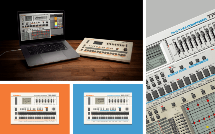 Roland TR-707, TR-727 Software Rhythm Composers Now Available