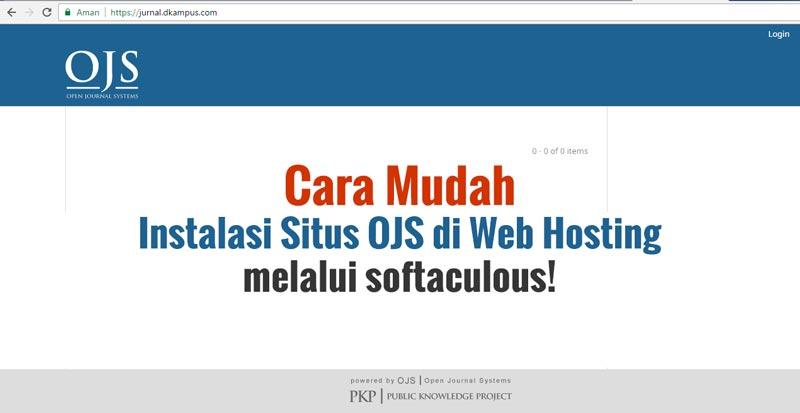 Instalasi OJS di web Hosting