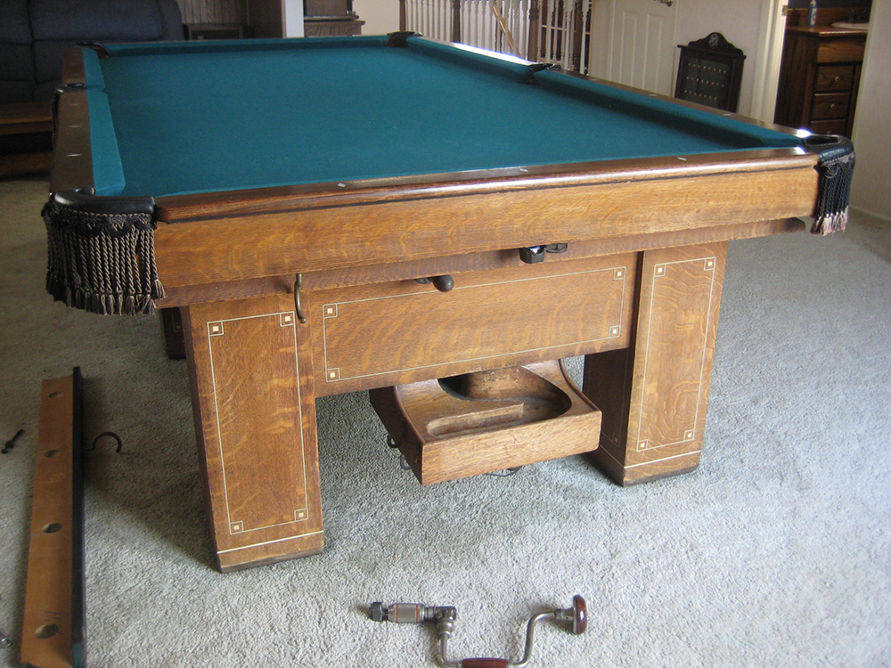 Antique Ball Return Pool Table Pool Table Service