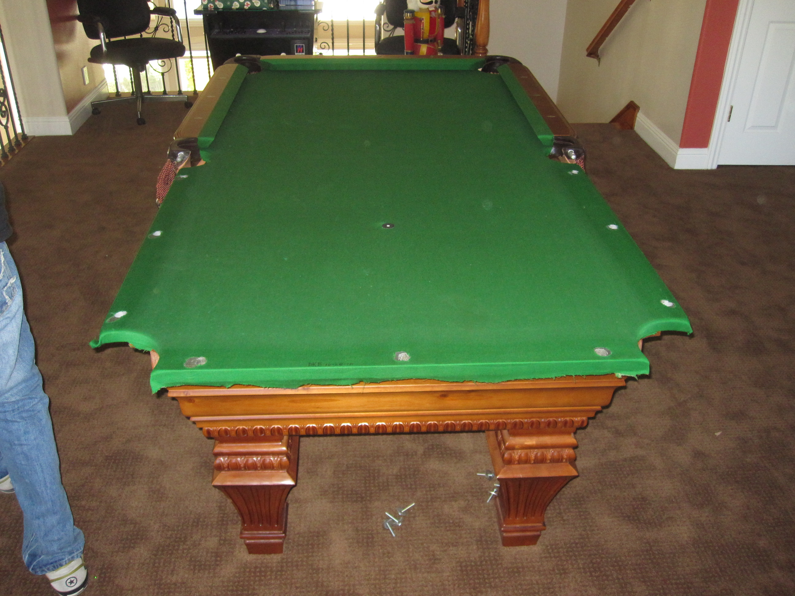 How To Install A Slate Pool Table Pool Table Service Billiard - Move my pool table