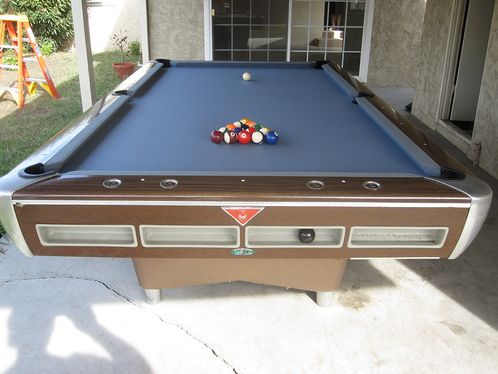 This Is One Of The Heaviest Pool Tables I Have Ever Moved. Itu0027s A 4.5×9 Foot  AMF Pool Hall Table. I Was Recently Hired To Move This Monster Pool Table  For A ...