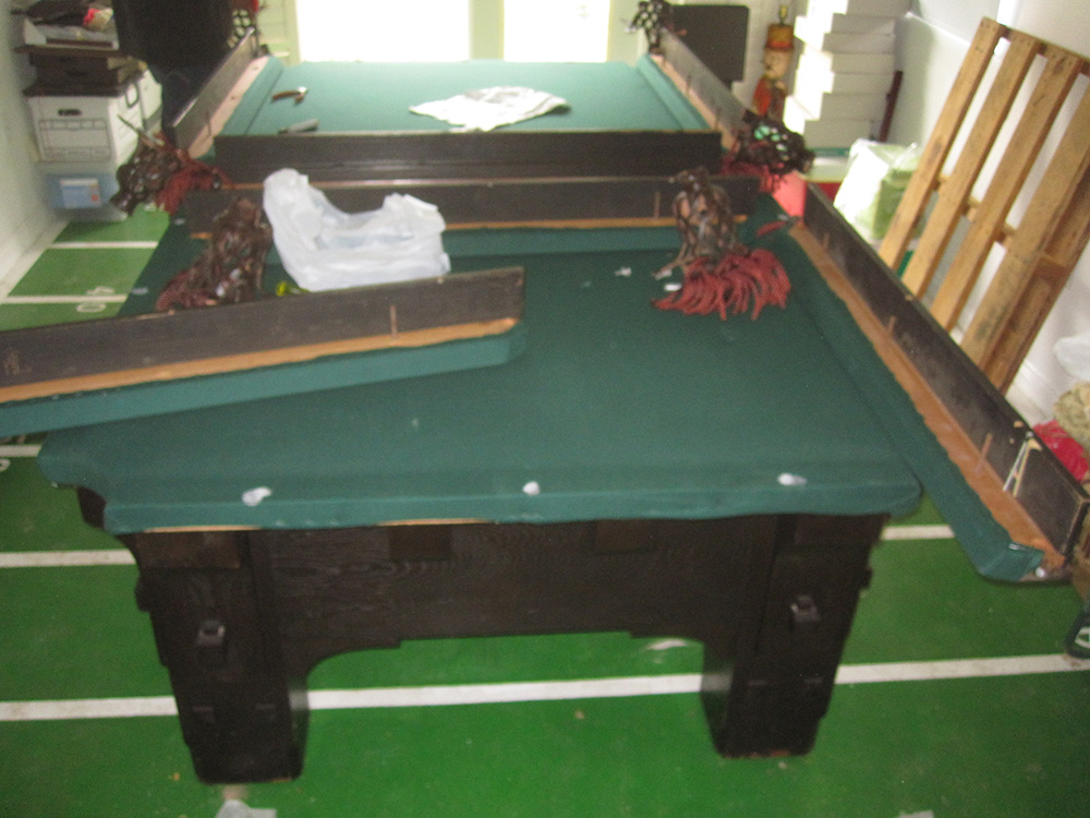 How to make a 1000lb pool table disappear dk billiards for How to build a billiard table
