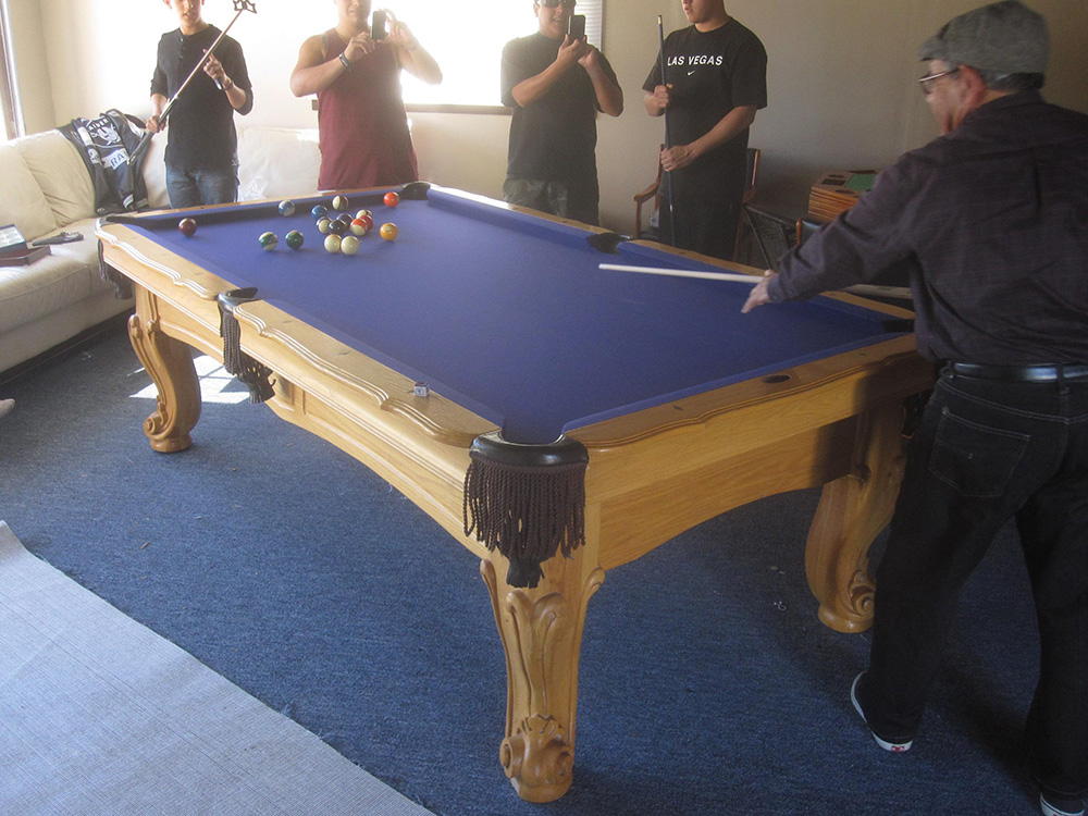 This Eight Foot Artisan Designs Slate Pool Table Has Been Around. The Owner  Has Had Me Disassemble It And Reassemble It In Three Different Cities Over  The ...