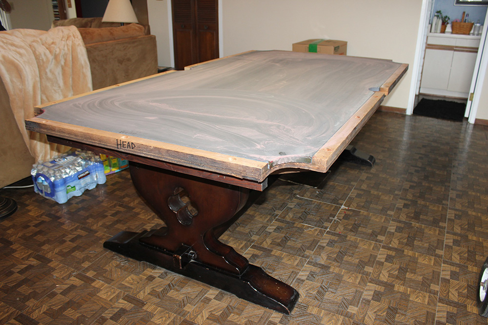 Looks Can Be Deceiving Is Your Table A One Piece Slate Pool - Moving a pool table in one piece