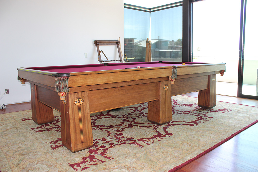 My Client Just Received His Fatheru0027s 5×10 Foot, Three Piece Slate Snooker  Table That He Grew Up Playing On. Originally From Topeka, KS This ...