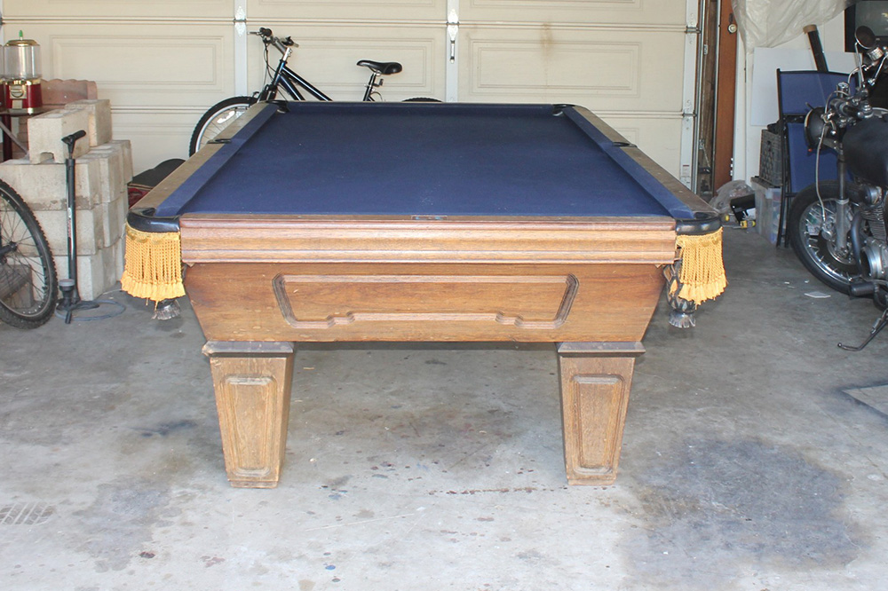 Can You Restretch Pool Table Felt Pool Table Service Billiard - Pool table in garage