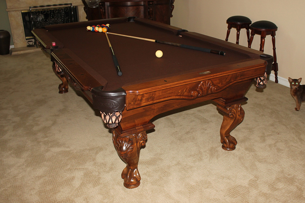 All Custom Pool Tables For Saleu2026 We Recently Delivered And Installed This  Eight Foot Winslow Pool Table Made From Solid 8/4 Maple Wood.