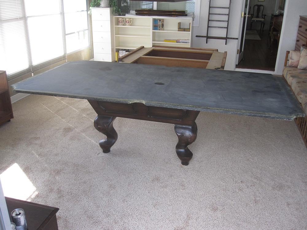 One Piece Slate Vs Three Piece Slate Pool Table Service - How to move a slate pool table