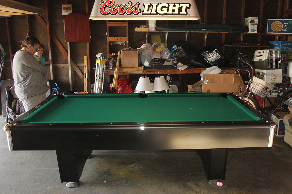 Garage Gameroom For Coors Fan Pool Table Service Billiard Supply - Pool table in garage