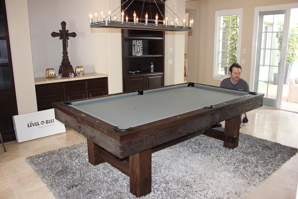This Calabasas, California Family Was Looking For A Rustic Pool Table With  A Little Edge To Their Gameroom. The Eight Foot Elkhorn Rustic Fit The Bill.