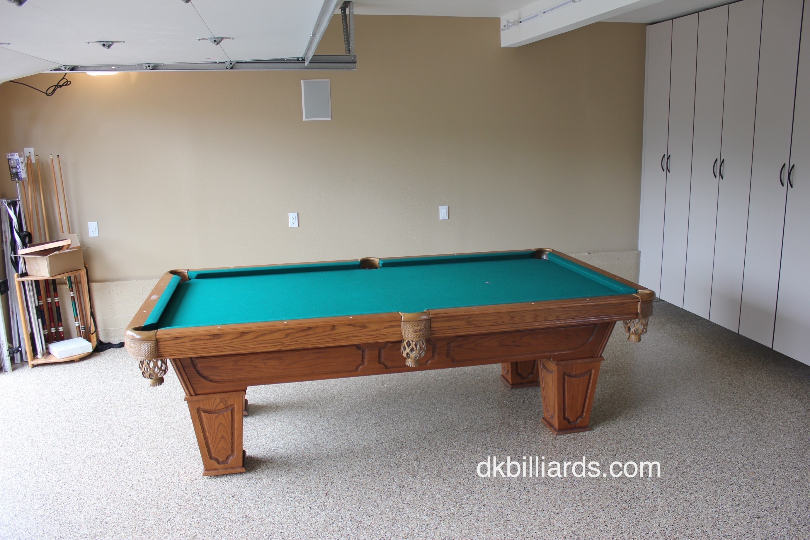 This Newport Beach, California Garage Was Prepped With New (and Dry) Epoxy  Floors And Ready For Us To Install This 8u2032 Camelot Pool Table.