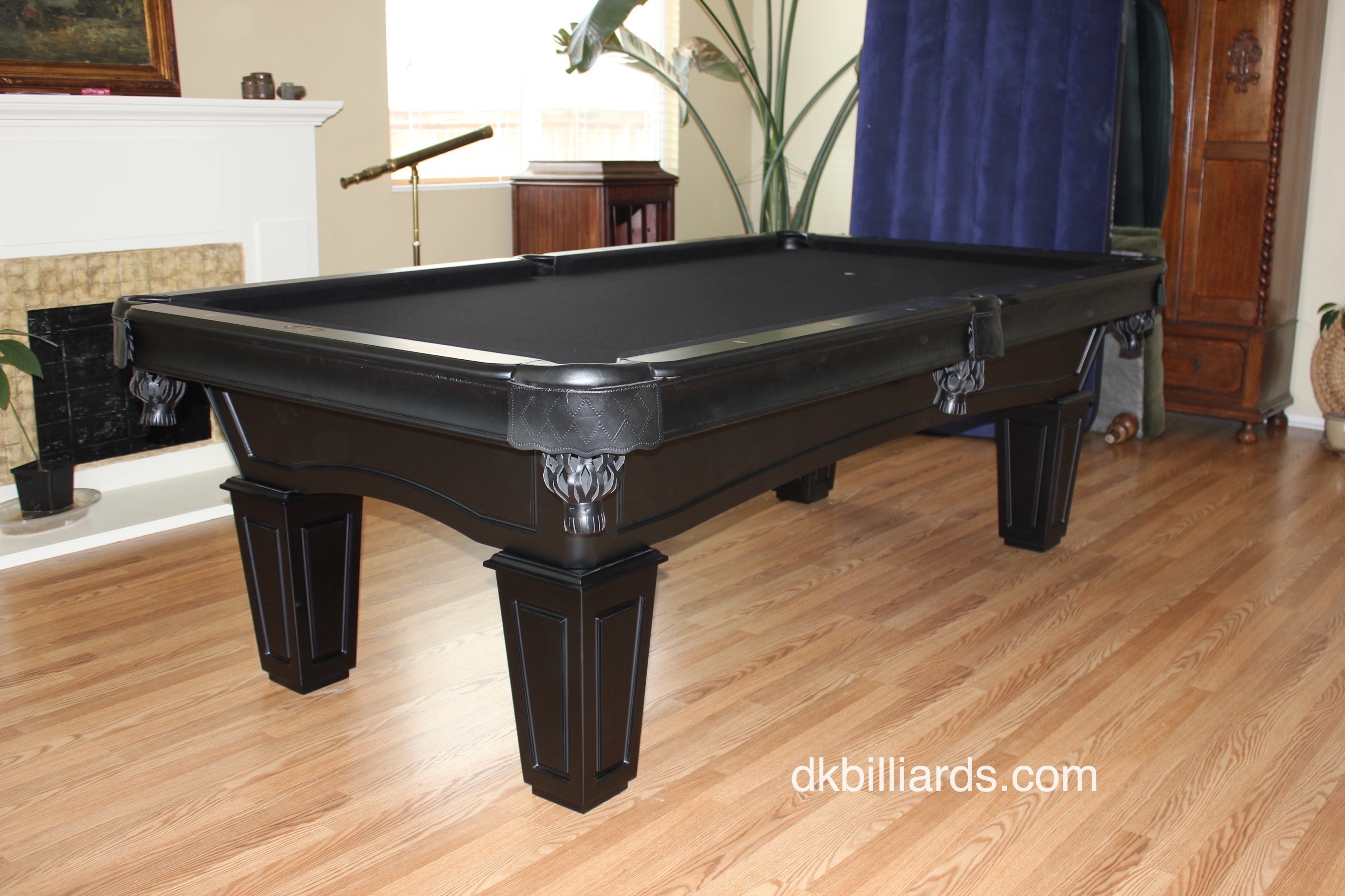 Check Out This 8u2032 All Black Pool Table We Installed In Victorville,  California. The All Black Frame And Pockets Were Paired With Black Felt To  Create This ...