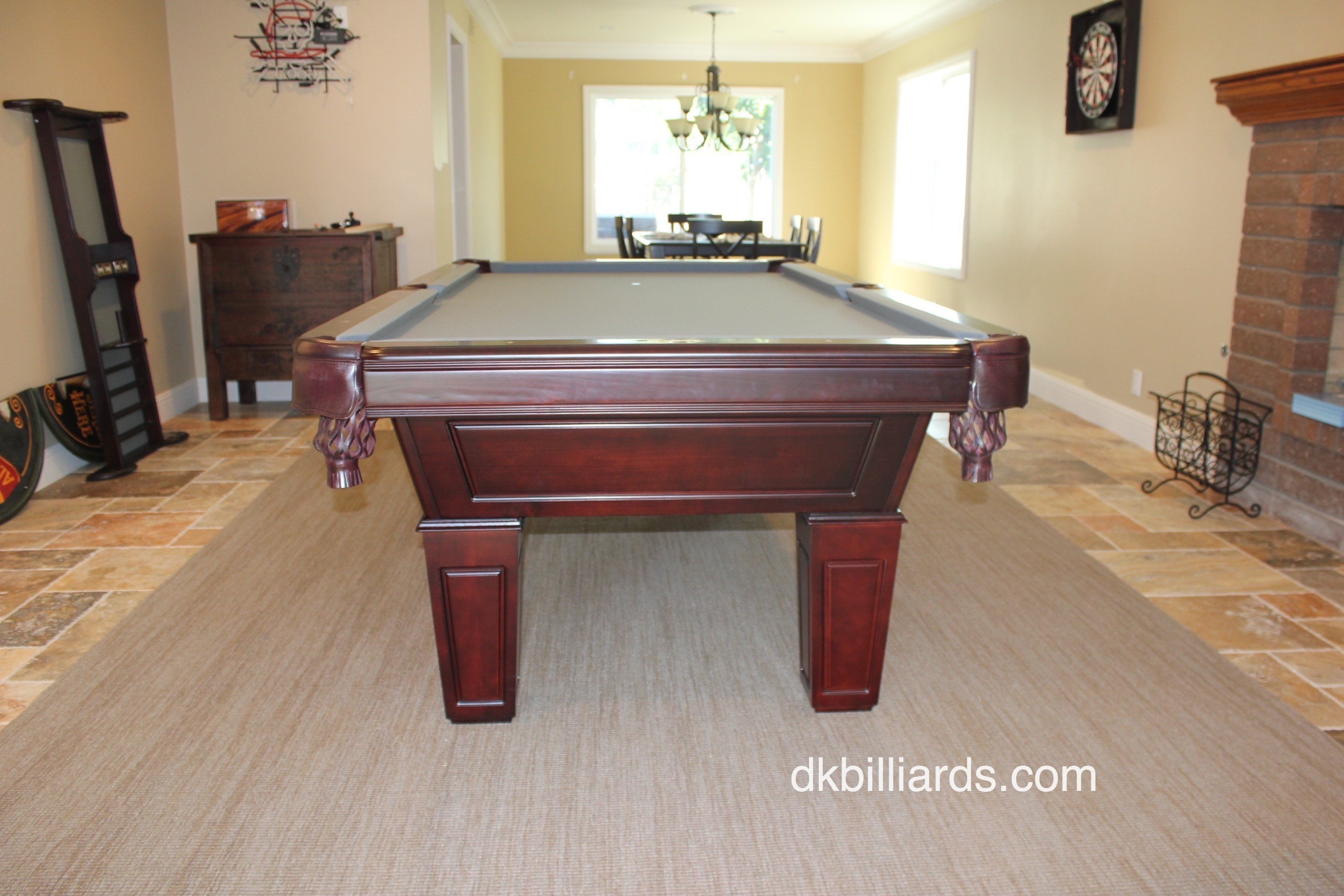 Our Customer Chose To Use A Low Pile Rug Beneath The Pool Table To Create A  Visual Anchor And Dampen The Noise Of Ball To Ball Contact. Placing A Rug  Under ...
