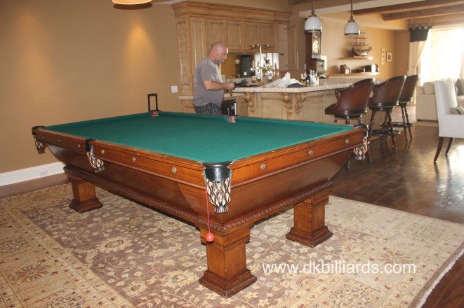 Disassembling A Four Piece Slate Billiard Table Pool Table Service - How to take apart a pool table