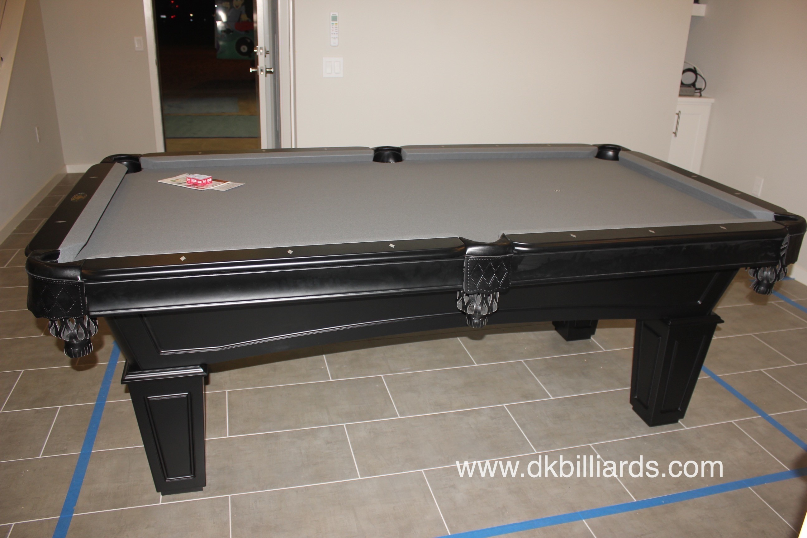 Contemporary Black Pool Table