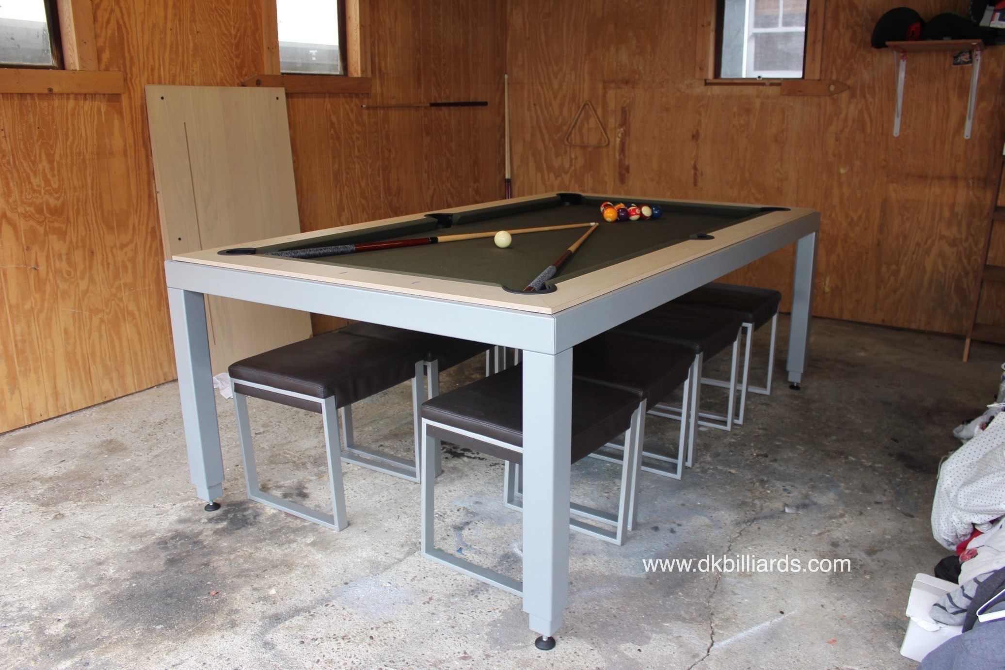 We Installed Their White Oak Topped Aramith FusionTable Directly On The  Concrete Floor. The Fusion Dining Pool Table ...