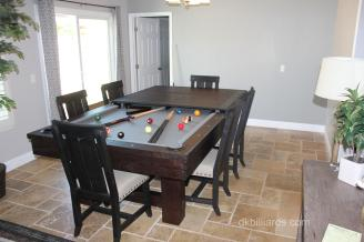 Dining Conversion Rustic Pool Table Service Billiard Supply - Pool table conference table