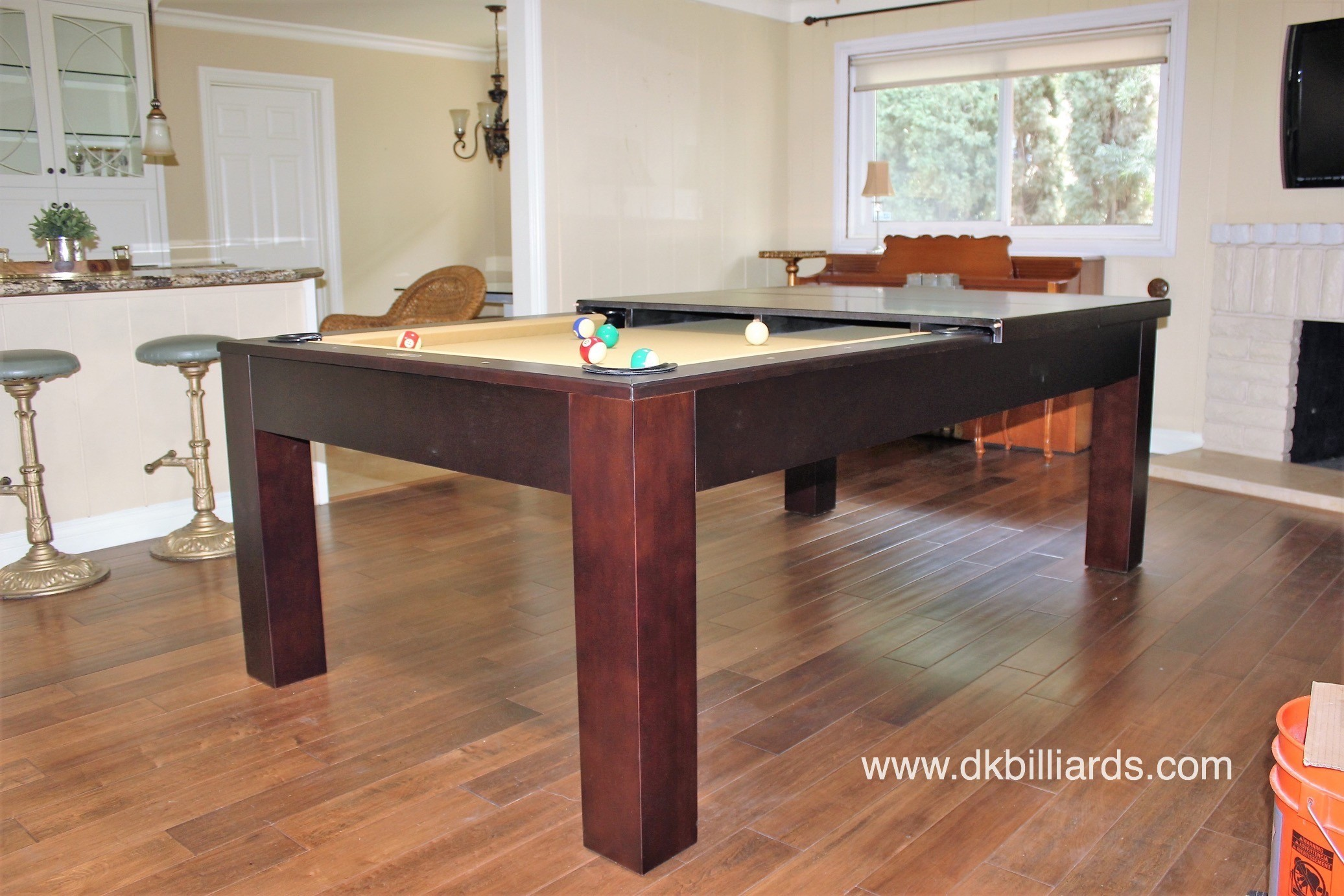 Sleek Dining Pool Table Combo Pool Table Service Billiard Supply - Sleek pool table