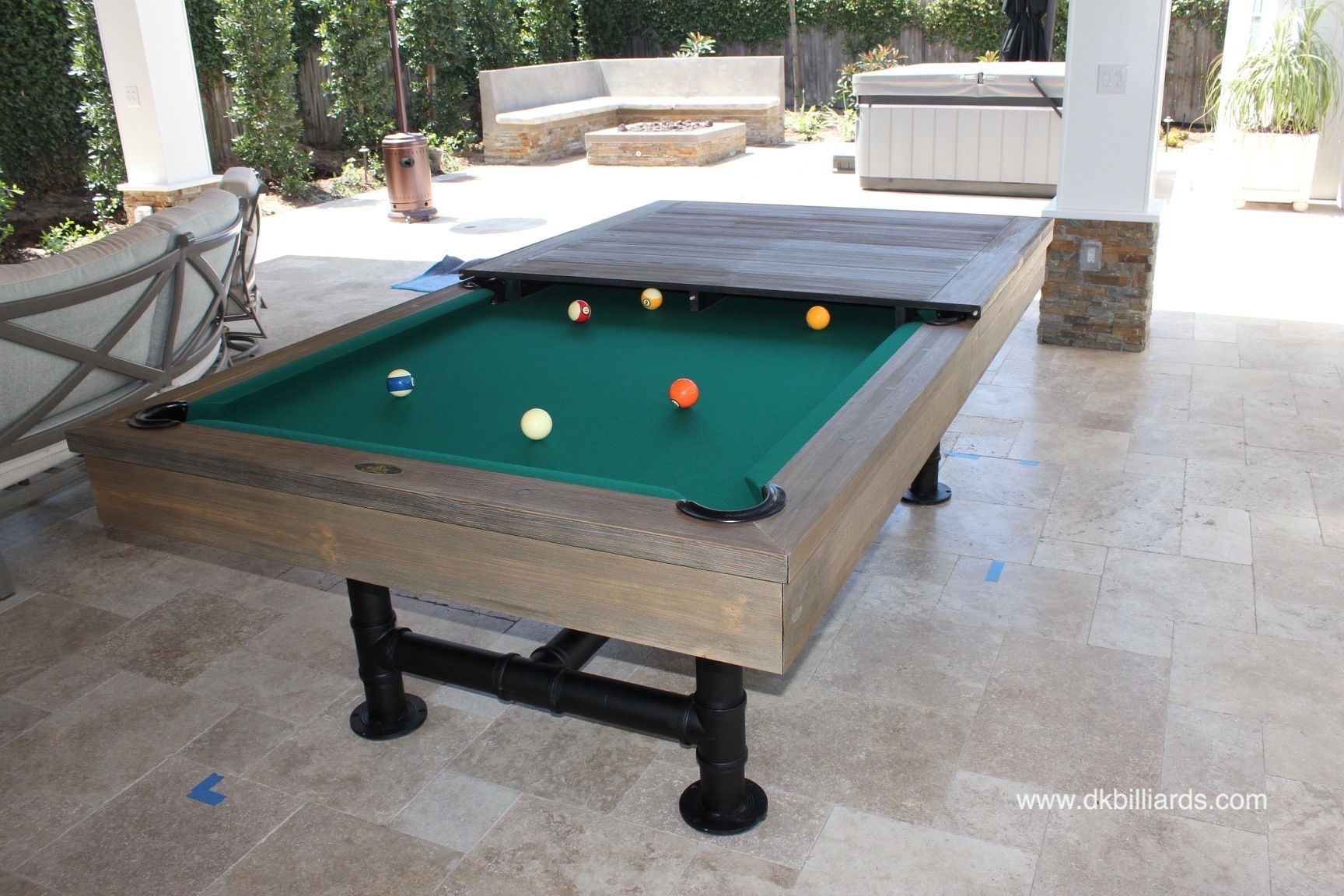 The Space This Family Created Was Multi Purpose And Perfect For  Entertaining. Dine Al Fresco, Shoot Pool, Watch The Game, And Relax On The  Sofas In The ...