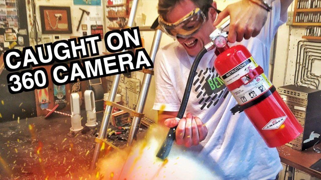 Firework DISASTER Caught on 360 Cam in 4k