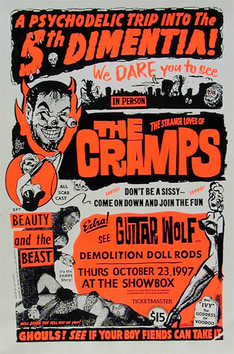 Art Chantry The Cramps Showbox Poster