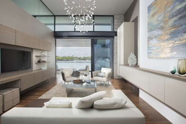 Contemporary Waterfront Elegance Residential Interior