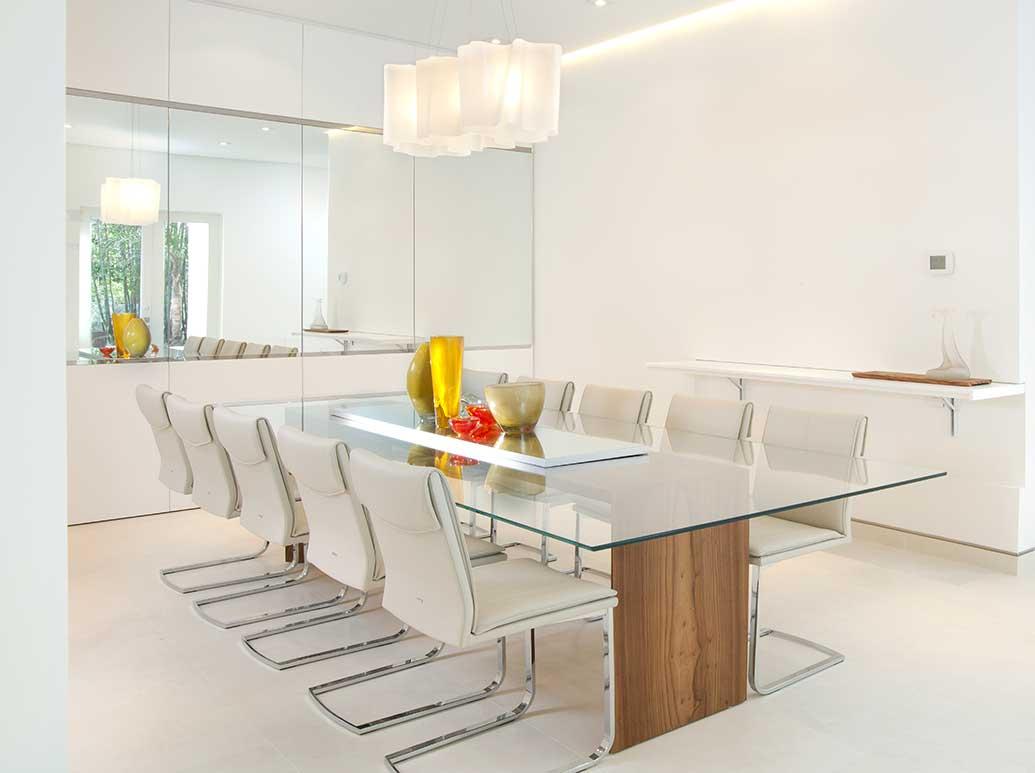 Minimalist furniture design for a modern dining room