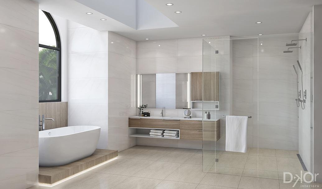Design CheckIn A Modern Master Bathroom in Coral Gables