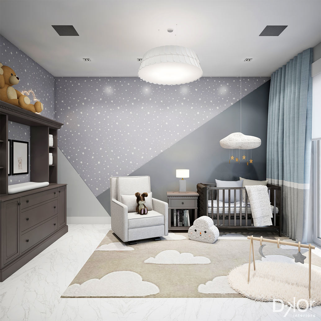 Modern PrismInspired Kids Rooms by DKOR Interiors