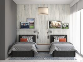 Shared Kids' Room Ideas Sailing Inspired Design by DKOR ...