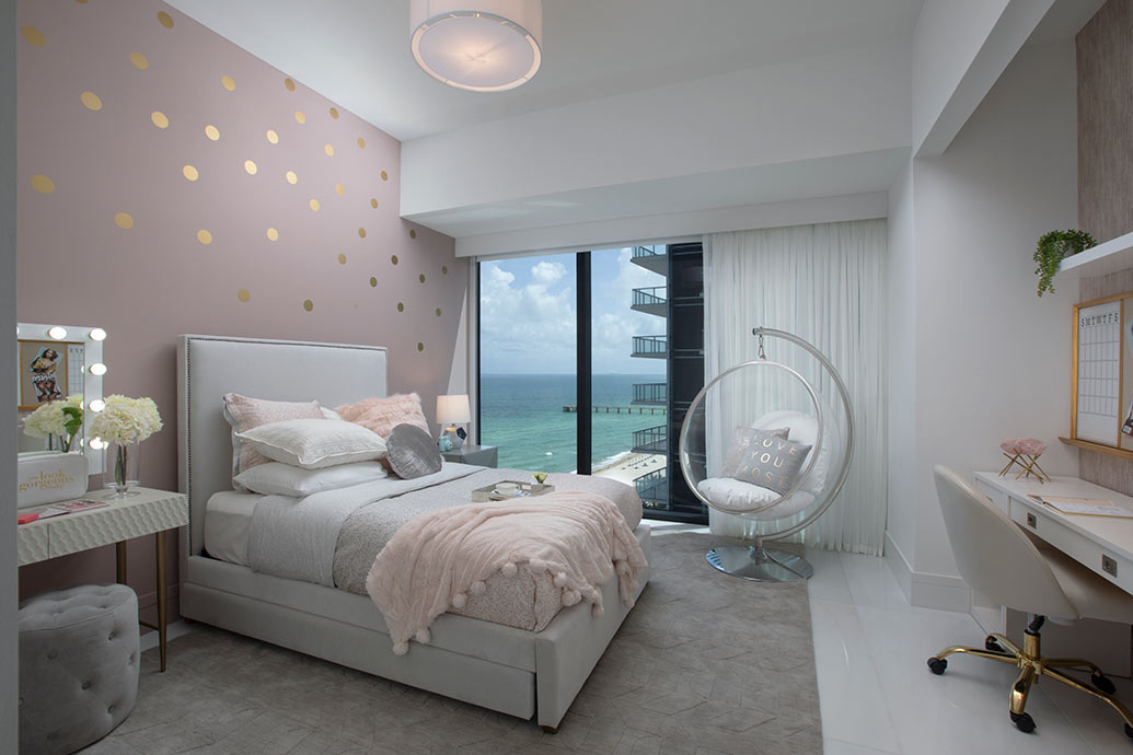 Kids Bedroom Decor In A Sunny Isles Oceanfront Condo