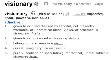 Visionary | Define Visionary at Dictionary.com