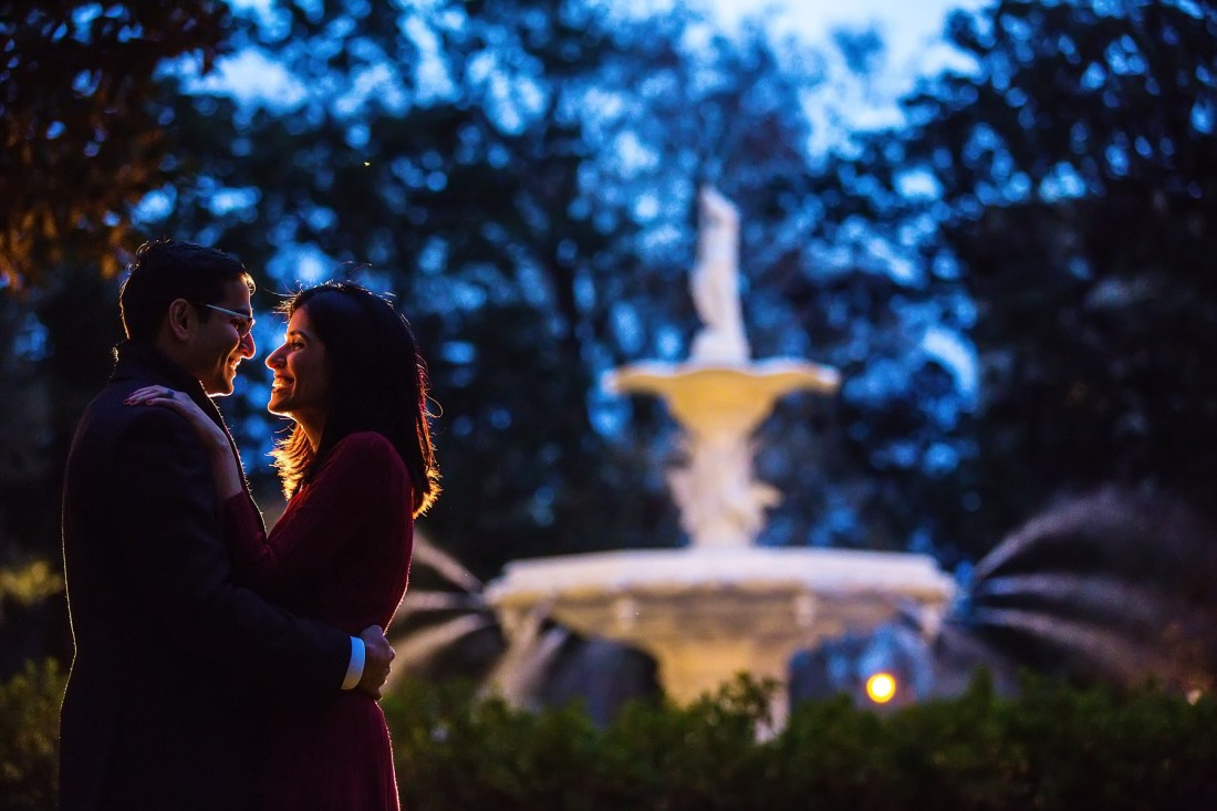 Forsyth Park Savannah Georgia Engagement Session