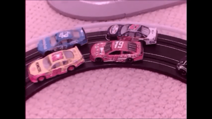 This stop motion Nascar race took roughly 60 hours to complete