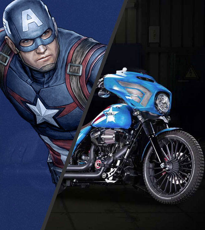 Captain America Street Glide Special Freedom