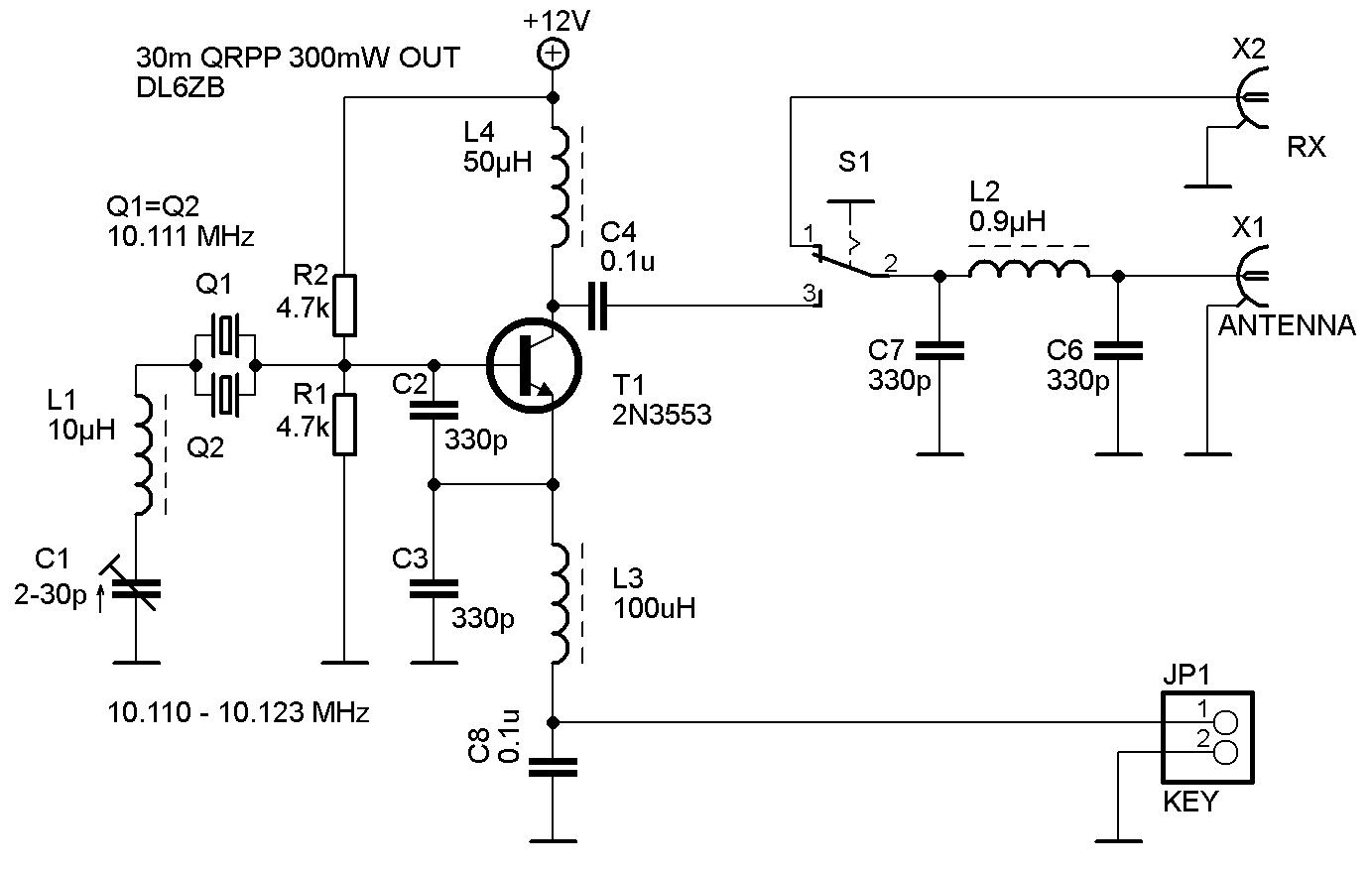hight resolution of 30m single transistor qrpp