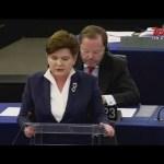 Wystąpienie premier Beaty Szydło podczas debaty w Parlamencie Europejskim