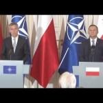 Konferencja prezydenta Polski Andrzeja Dudy i sekretarza generalnego NATO Jensa Stoltenberga