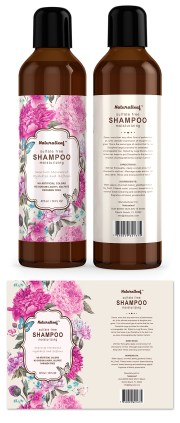 hair shampoo label template design