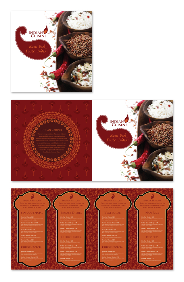 Indian Restaurant Menu Template DLayouts Graphic Design Blog