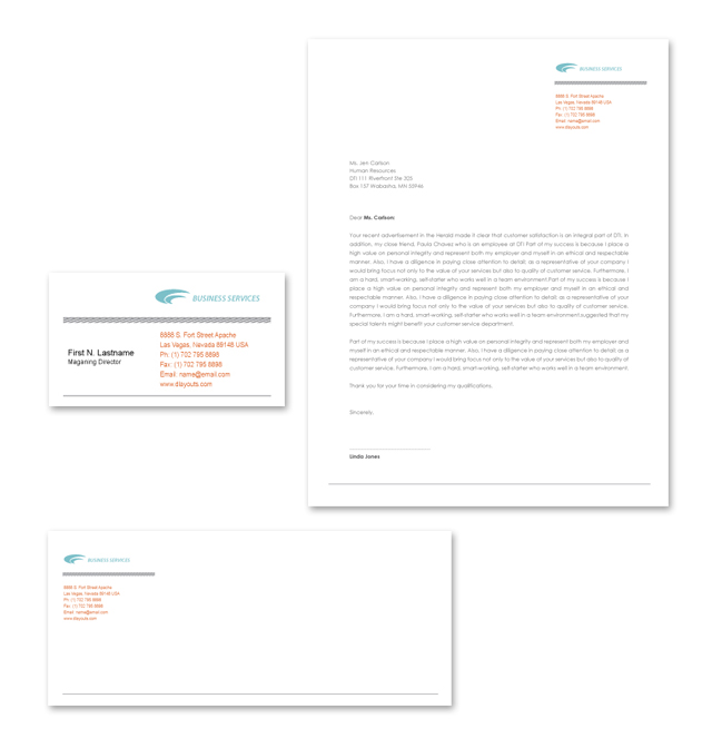 Business Services Stationery Kits Template