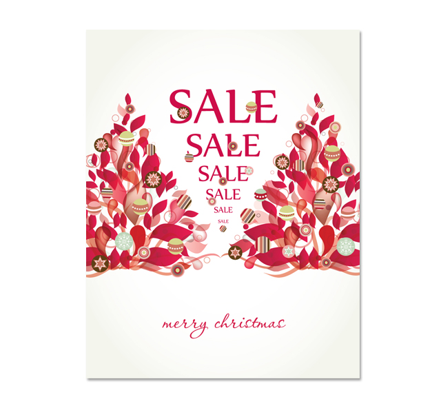 Modern Christmas Tree Sale Poster Template DLayouts