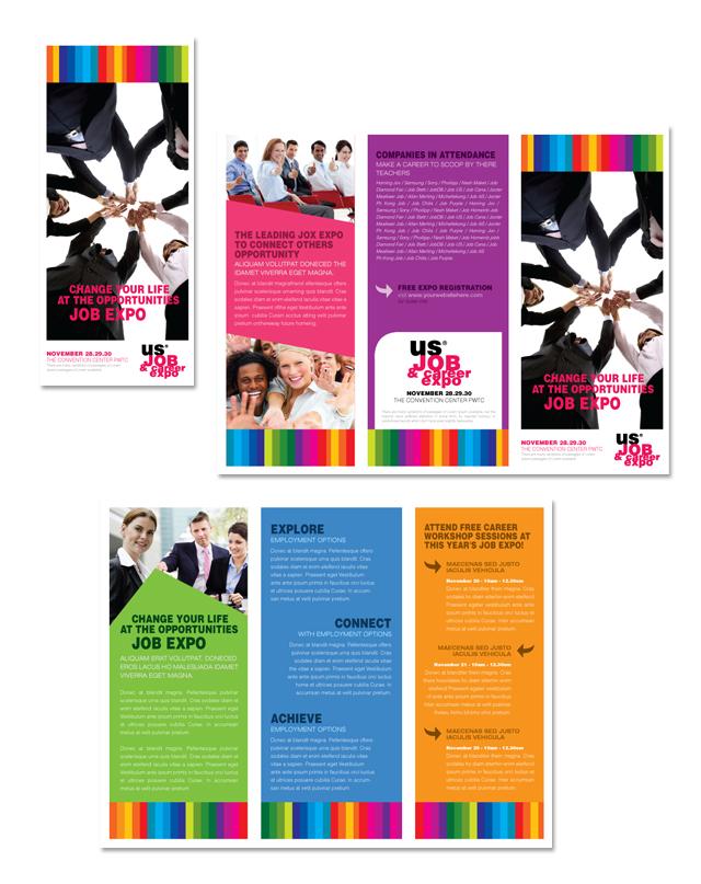 Job Expo & Career Fair Tri Fold Brochure Template