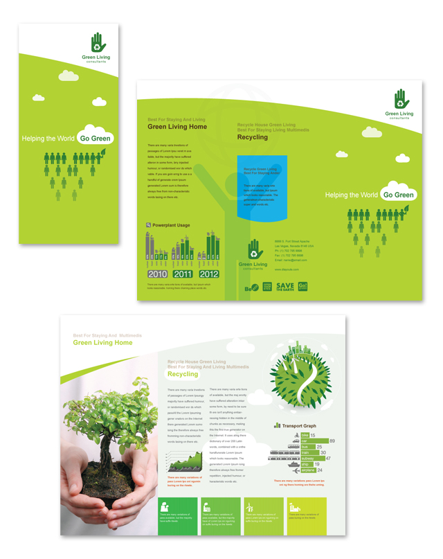 Recycling Tri Fold Brochure Template DLayouts Graphic Design Blog