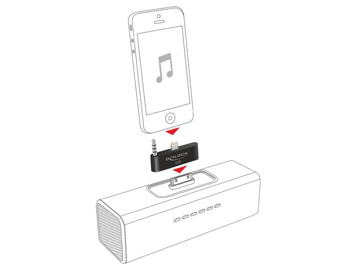 Delock Products Delock Audio Adapter 8 pin male + stereo