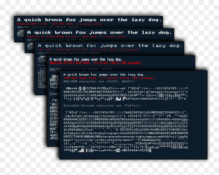 Download The Ultimate Oldschool Pc Font Pack - Old School Computer ...