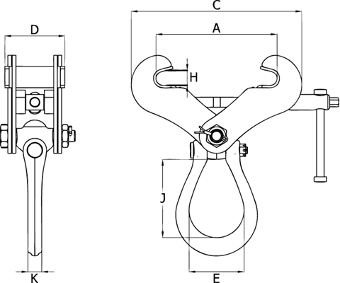 Crosby IPTKUM Anchor Clamp (For one person) (75-190MM)