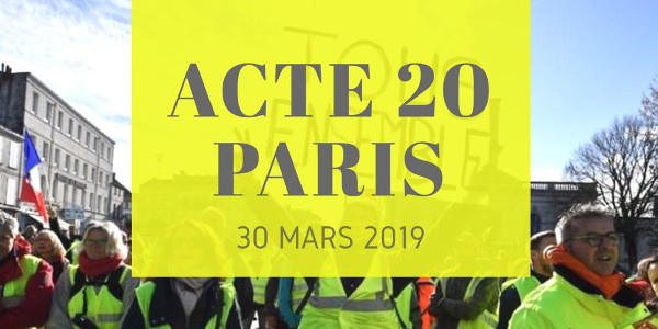 2d1345708c0 Op zaterdag 30 maart gaan voor de 20e week (Acte XX) meer dan 120.000  Franse Gele Hesjes in tientallen steden de straat op, vreedzaam en  vastberaden ondanks ...