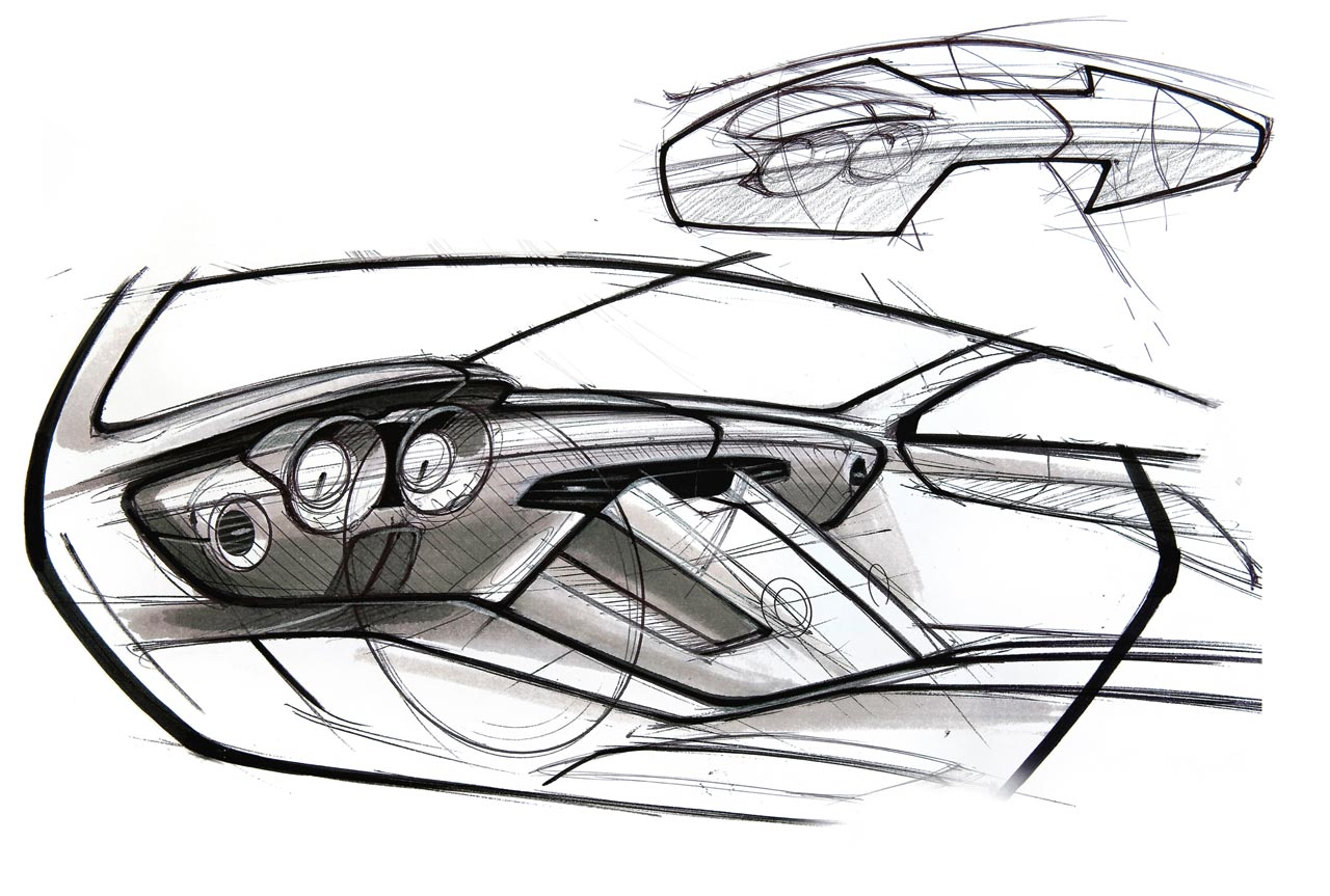 Mercedes Benz Sls Amg Interior Design Sketch 2 Lg